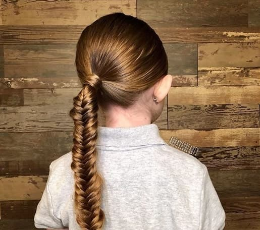 Long Hair Style With Twisted Ponytail