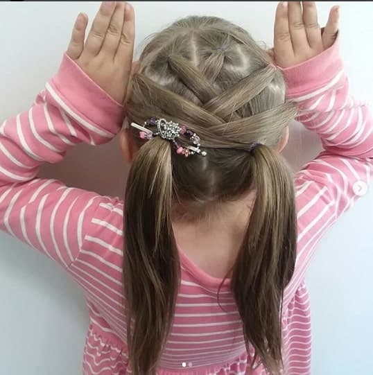 Pigtails With Layered Design On The Back