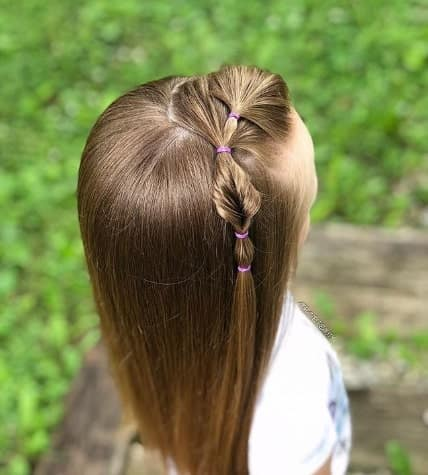 Puffed Braid With Straight And Fine Locks