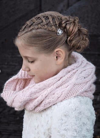Combed Back Hairstyle With Cornrows And Bun