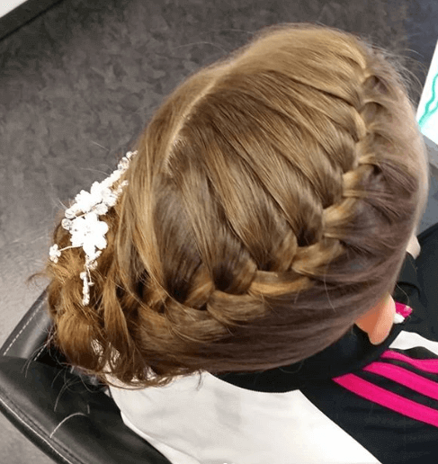 Swirling Braid With Unruly Ponytail