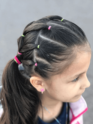 Combed Back Layers With Stylish Ponytail