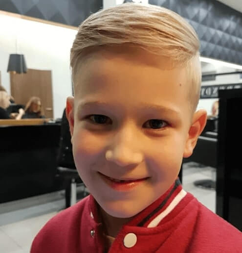 Long Side Swept Hairstyle With Side Fade