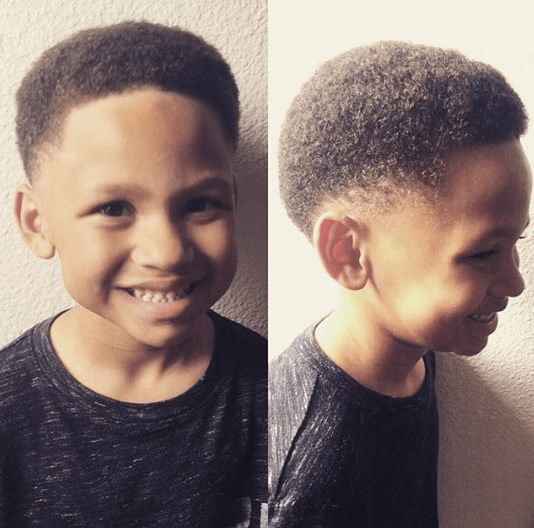 Flat Top Hairstyle With Taper Fade
