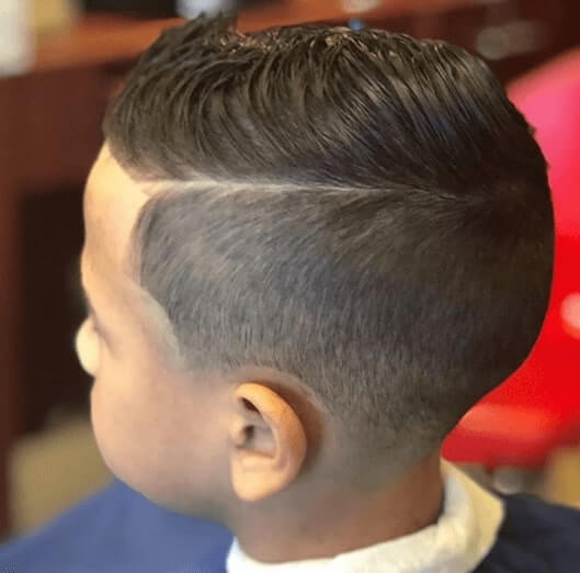 Short Spiky Hairstyle With High Fade