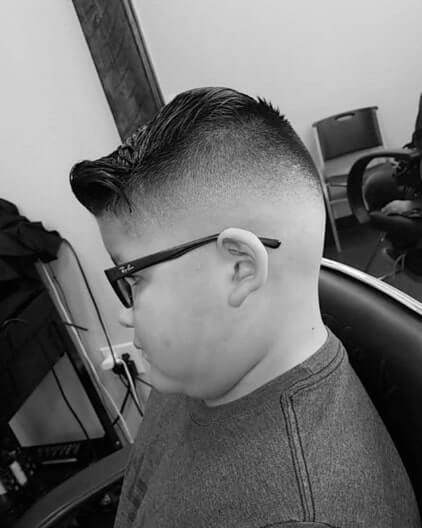 Side Swept Bangs With Undercut Fade