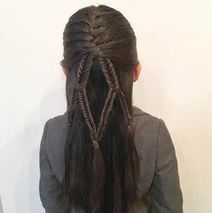 Combed Back Hairstyle With Intricate Braids