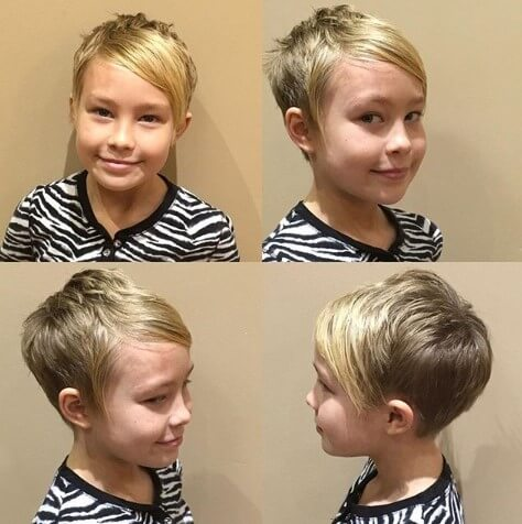 Short Hairstyle With Slicked And Angled Fringe