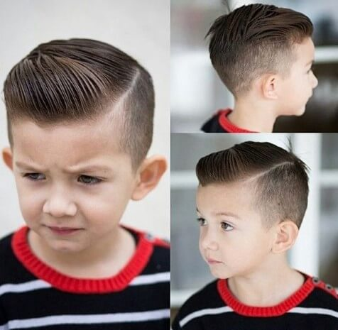 Short Textured Quiff With Side Part And Fade