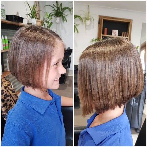 Side Parted A-Line Bob Hairstyle