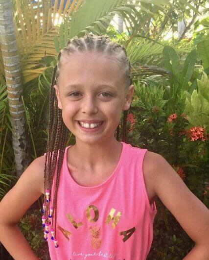 Braided Cornrows With Beaded Tips