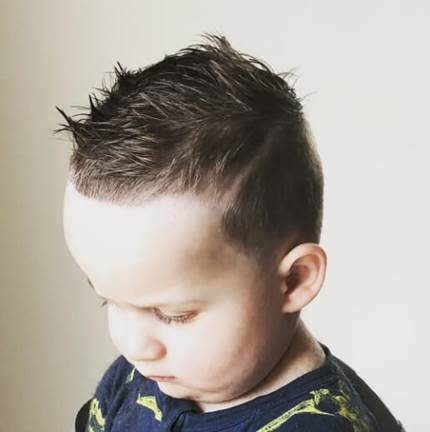 Casual Spiky Hairstyle With High Fade