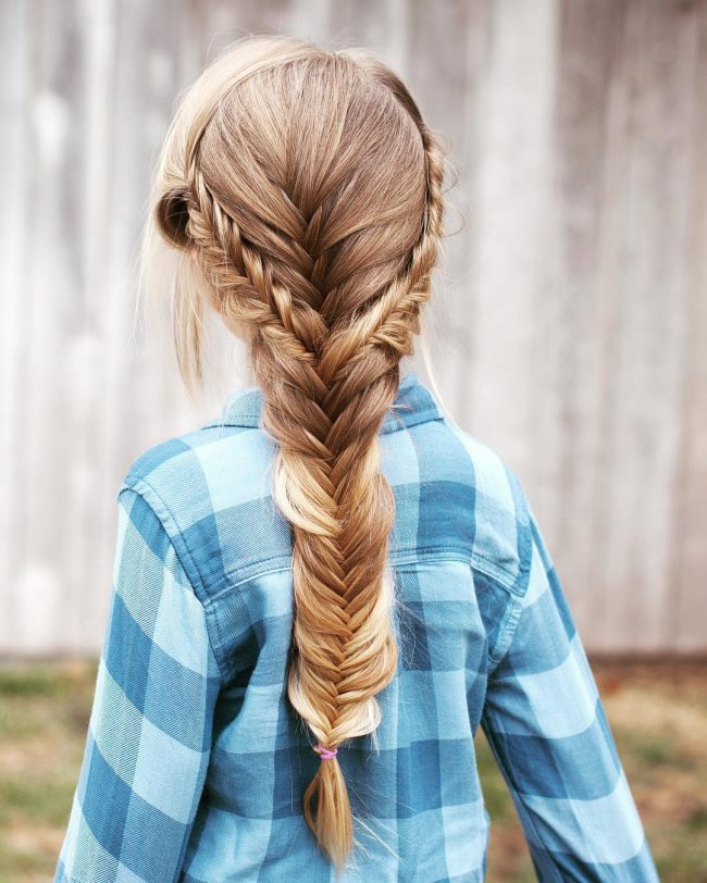 Fishtail Braid With A Mess