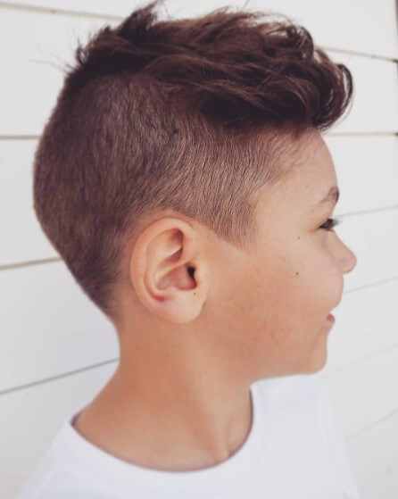 Forward Swept Casual Hairstyle With High Fade