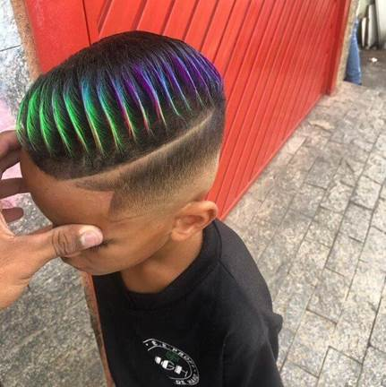 Funky Textured Hairstyle With Fade