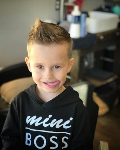 Textured Side Spiked Hairstyle With Fade
