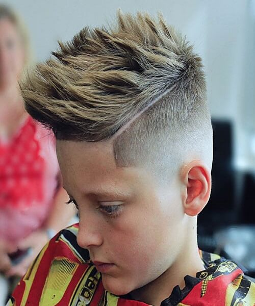 Thick Wavy Top With Undercut Fade