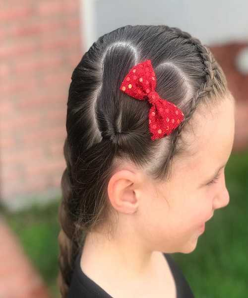 Braided Hairstyle With Heart Design