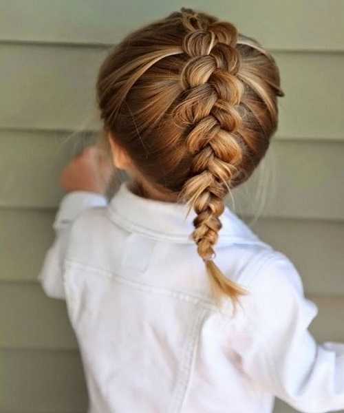 Center Braid With Combed Back Hair
