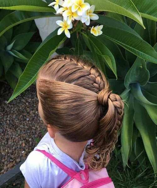Combed Back Hairstyle With Braids
