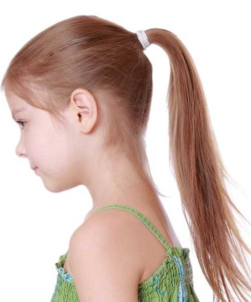 Combed Back Hairstyle With High Ponytail