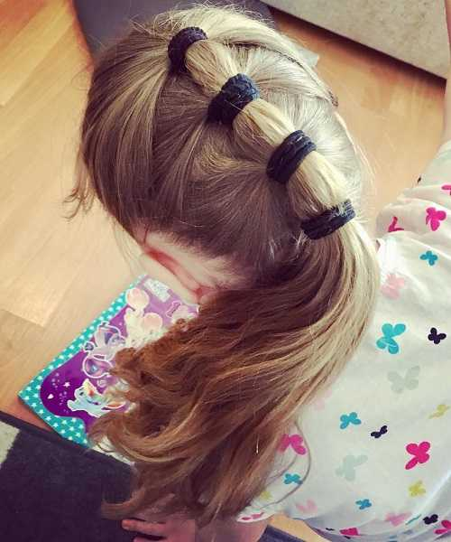 Combed Back Hairstyle With Long Sectioned Ponytail