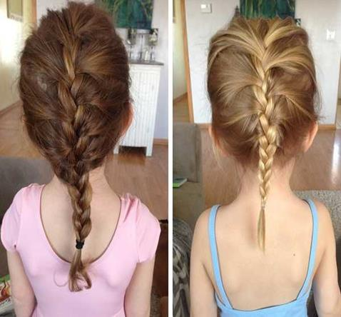 Combed Back Hairstyle With Short And Thin Braided Tail