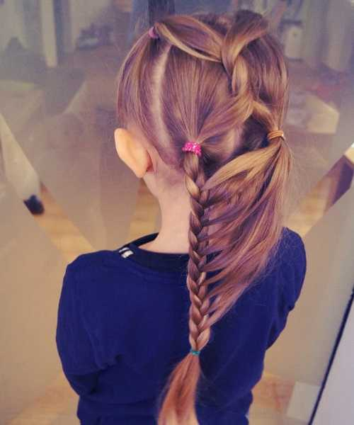 Combed Back Hairstyle With Stylish Braided Ponytail