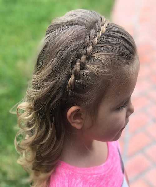 Combed Back Hairstyle With Tight Braided Hair Band