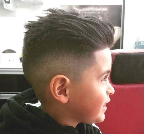 Combed Back Quiff With Undercut Fade