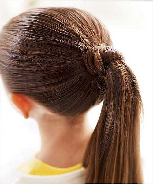 Combed Back With Wrapped Ponytail