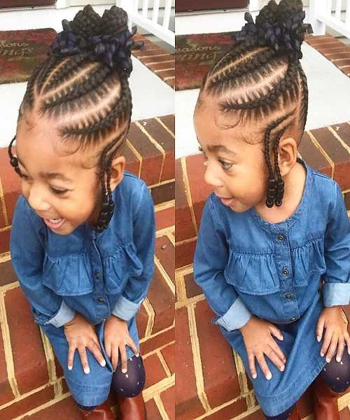 Cornrows With Braided Hair Bun