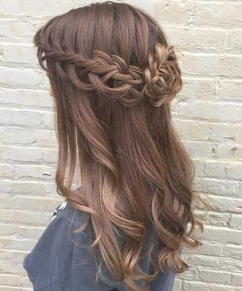 Curly & Braided Half-Up Hairstyle