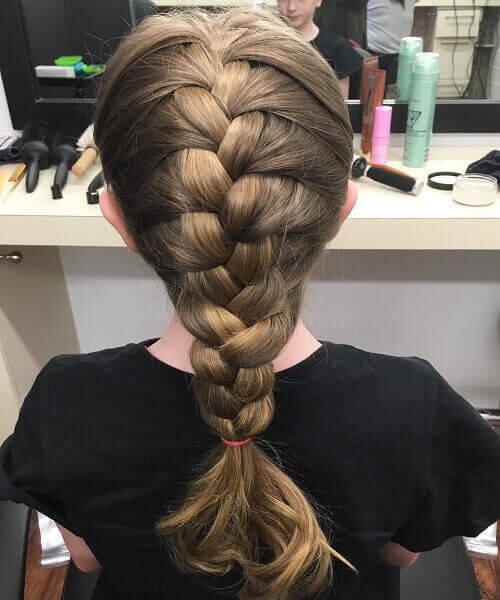 Elsa's Braid For Shorter Hair