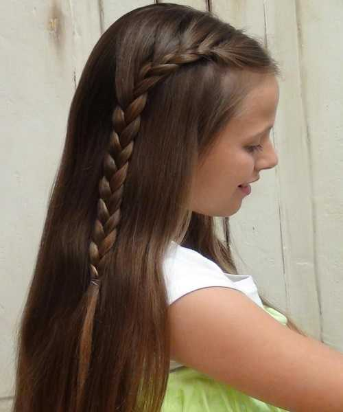 Long Open Hairstyle With A Cool Side Braid