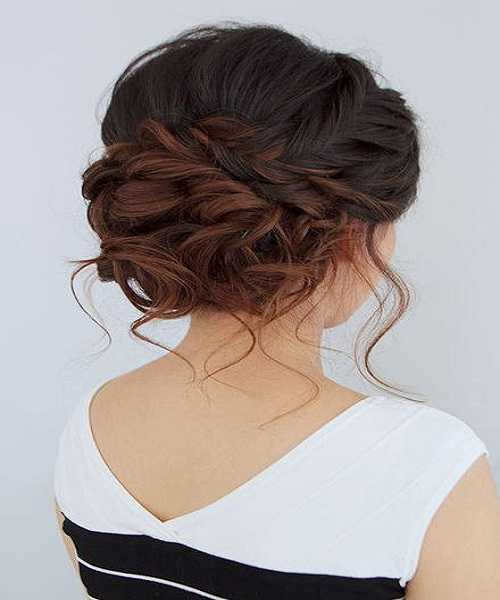 Loose And Twisted Updo Hairstyle