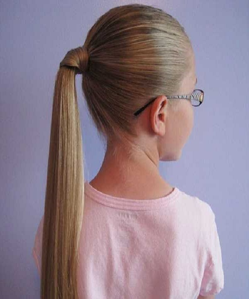 Neat Combed Back Ponytail