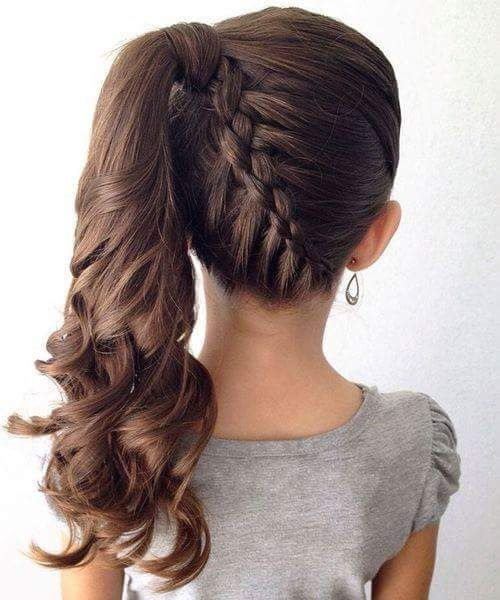 Voluminous High Ponytail With Braided Back