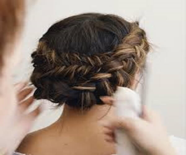 Side Braided Tousled Hairstyle