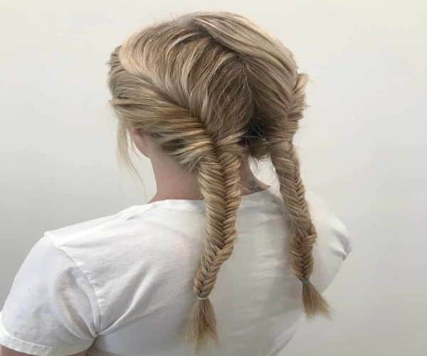 Accented Fishtail Ponytail