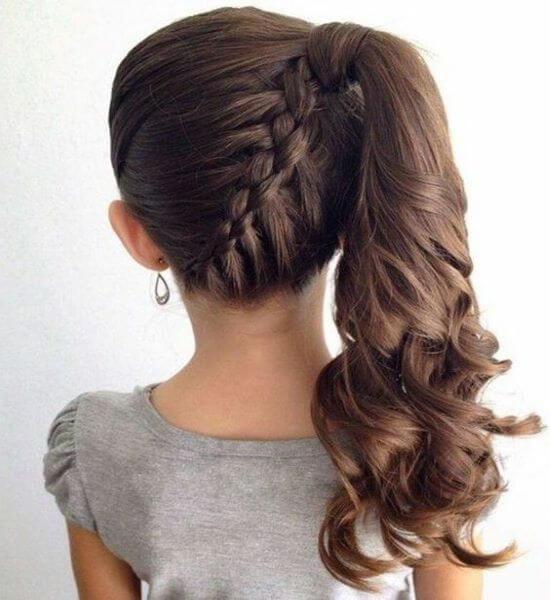 Asymmetrical Back Braid