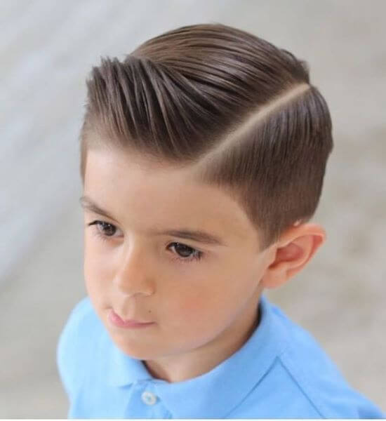 Dapper Side Parted Hairstyle