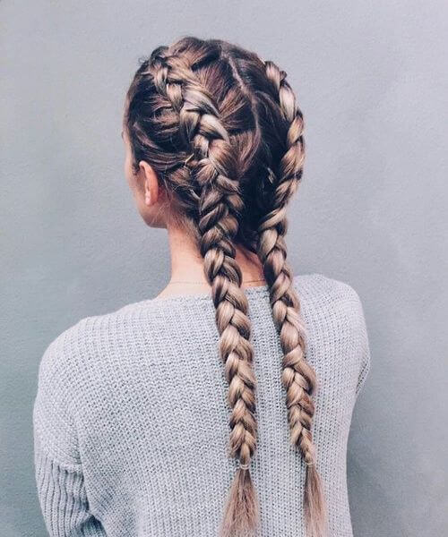 Double Dutch Braid With A Bit Of Mess