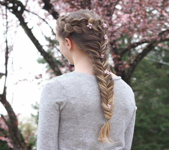 Fishtail And Dutch Braid Combo
