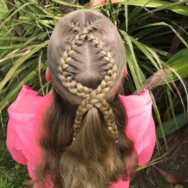 Half-Up Rope Braided Hairstyle