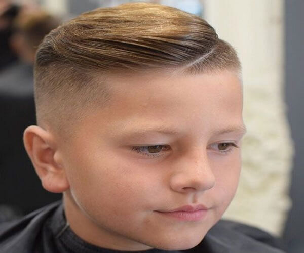 Side Swept Haircut With A Shaved Undercut