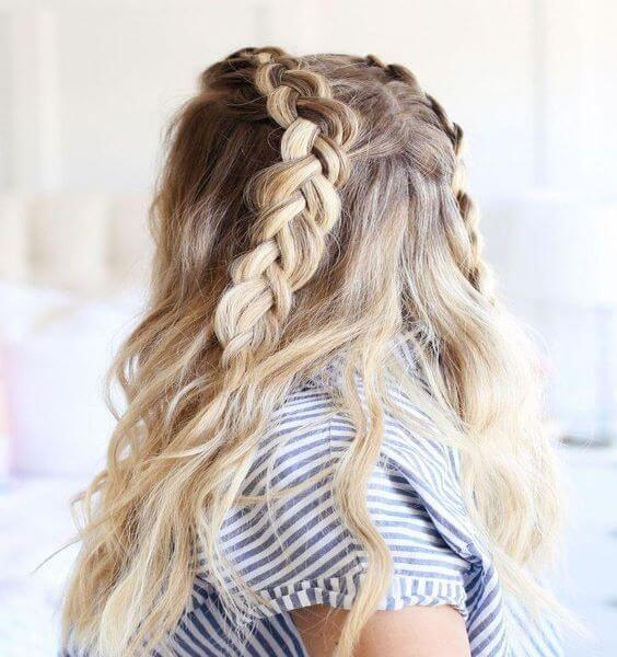 Soft Dutch Braided Hairstyle