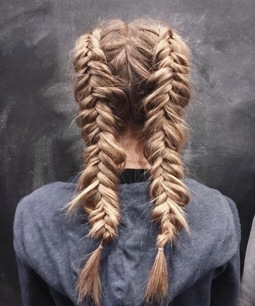 Simple Sporty Double Braid
