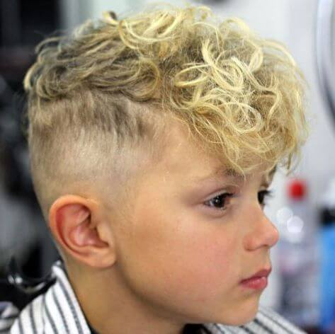 Curly Fringe And High Fade