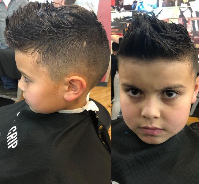 Faux Hawk Hairstyle With Shorter Sides